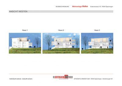 Ansicht des Wohnprojektes Grabenstraße in Spaichingen Hofen von Westen