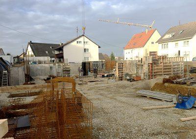 Bauarbeiten an Haus 1