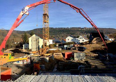 Bauarbeiten im Dezember 2016 an Haus 1
