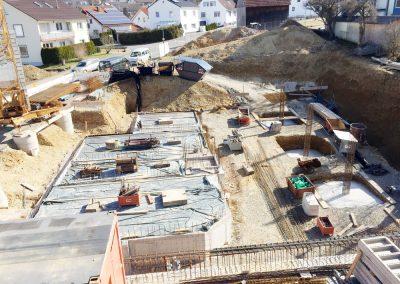 Arbeiten im Kellergeschoss für Haus 2, Bauprojekt Winker Efinger in Spaichingen Hofen