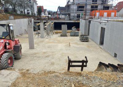Blick in die Tiefgarage, Bauprojekt Winker Efinger in Spaichingen Hofen